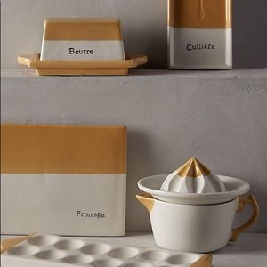 """Anthropologie """"Beurre"""" Butter Dish • LIKE NEW!"""